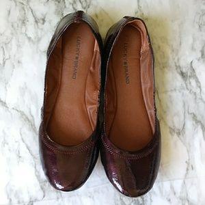 Lucky Brand patent leather ballerina Flats 1sz.10